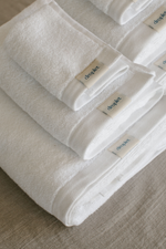 set of cream beige organic cotton towels from Turkey