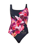 Gottex 18SG-180 Pink and Purple Flower Print Swimsuit MYSELFLINGERIE.COM