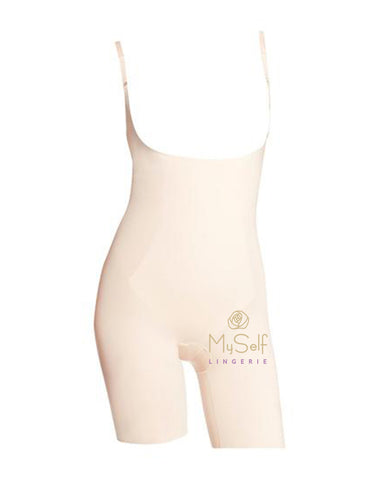 spanx 10021R Thinstincts Open Bust Bodysuit with Legs myselflingerie.com
