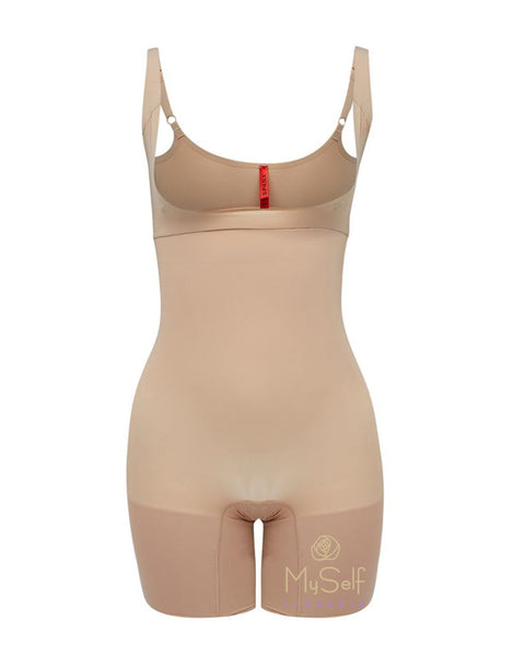 Spanx SS5615 Nude Open Bust Bodysuit with Legs MYSELFLINGERIE.COM