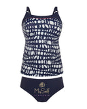 Anita Paris Navy and White Pattern Tankini