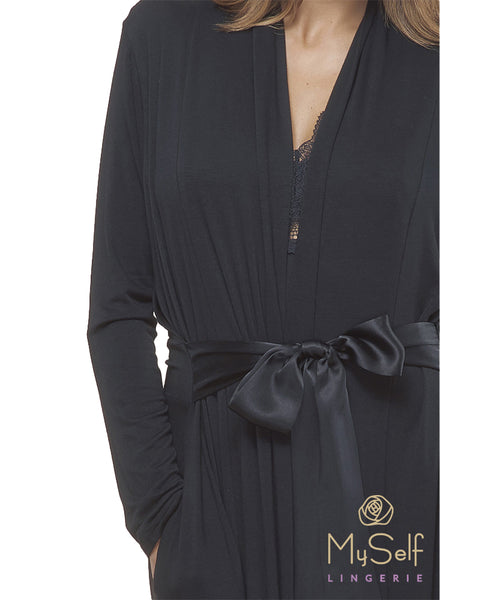 FLEUR'T 918 Modal Long Morning Robe myselflingerie.com