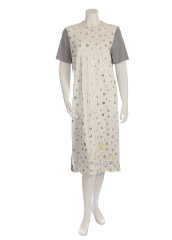 Pierre Balmingo Paris 05-4267S Heather Grey and White Short Sleeved Nightshirt myselflingerie.com