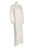 Pierre Balmingo Paris 05-4300A-NL White Nursing Nightgown with White Lace Trim myselflingerie.com