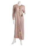 Pierre Balmingo Paris 05-4326-LL Rose Gold Foil Trimmed Mauve Nightgown myselflingerie.com