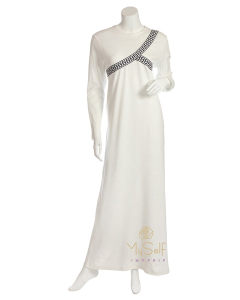 Pierre Balmingo Paris 05-4330-ALL Ribbons Design White Nightgown myselflingerie.com