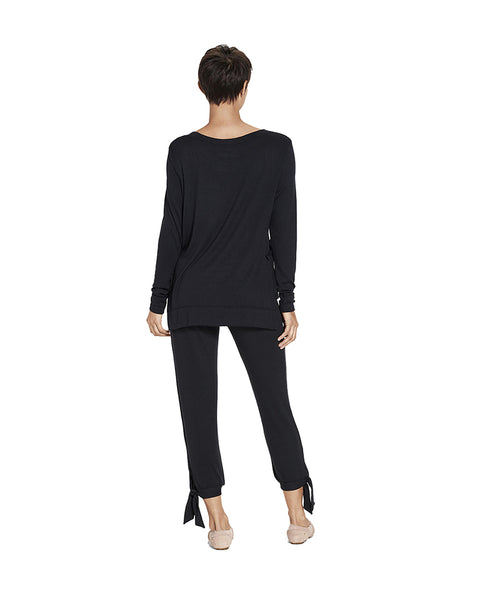 UGG 1095513 Black Fallon PJ Set with Side Tie myselflingerie.com