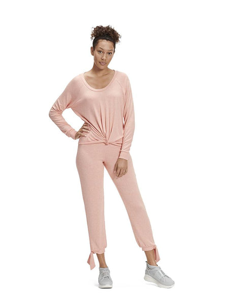 UGG 1095513 Beverly Pink Fallon PJ Set with Side Tie myselflingerie.com