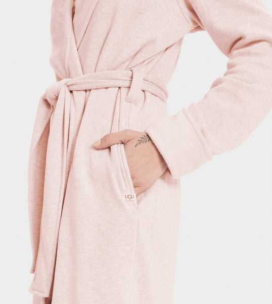 UGG Seashell Pink Blanche II Fleece Wrap Robe