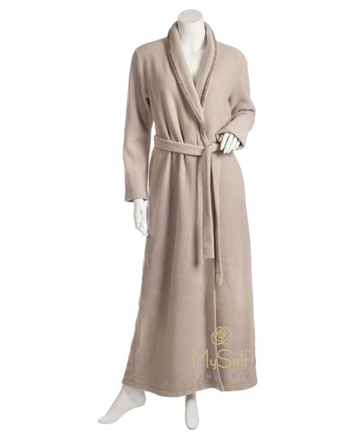 Iora Lingerie 19602C Plush Fleece Cream Wrap Robe myselflingerie.com