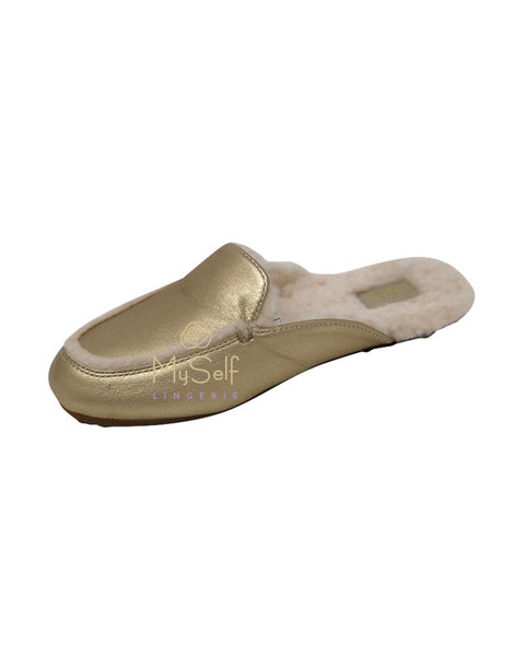 UGG 1106865 Lane Metallic Slip On Loafers myselflingerie.com