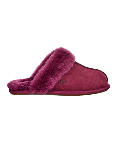 UGG 1106872 Scuffette II Suede Slipper with Fur Trim myselflingerie.com