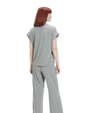 UGG 1108457 Grey Heather Addi Short Sleeve Pajamas Set myselflingerie.com