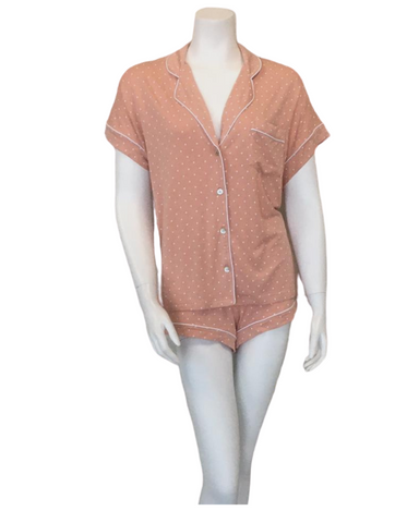 UGG LA Sunset Dots Amelia Short Sleeved Button Down PJ's Set