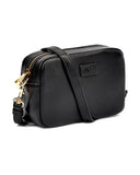UGG 1109124 Janey II Black Leather Crossbody Handbag myselflingerie.com