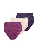 Jockey 1484 Berry Assorted 3 Pk Cotton Briefs myselflingerie.com