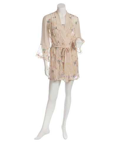 Rya Collection Keepsake Floral Embroidered Cover Up