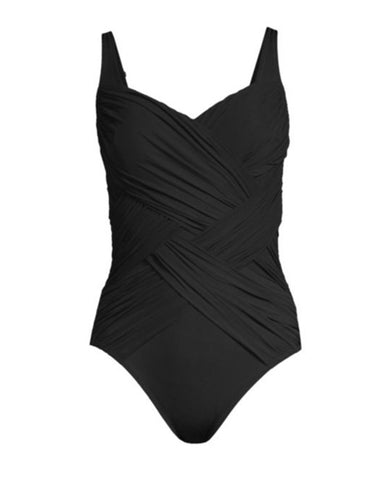 Gottex 19LA174 Black Body Shaping Swimsuit myselflingerie.com