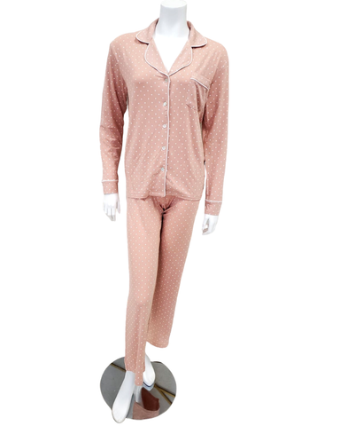 UGG LA Sunset Dots Lenon Button Down PJ's Set