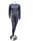 Q81173 Blaire Lava Fleece Lined Modal Pajamas Set