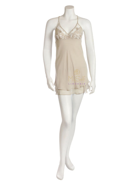 Rya Collection 261 Charming Embroidered Flower and Sequin Chemise MYSELFLINGERIE.COM