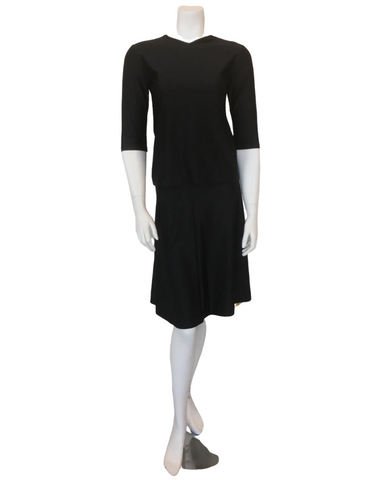 Jackie O Black Junior Swim Top & Skirt Set