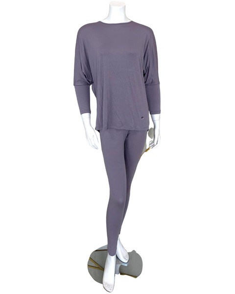 Vanilla Night and Day 3049 Purple Ash Round Neck Pajamas Set
