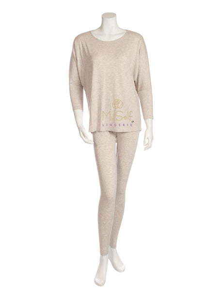 Vanilla Night and Day 3049-R Round Neck Modal Pajamas myselflingerie.com