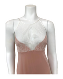 Vanilla Night and Day 3408 Dusty Pink Lace Halter Neck Modal Chemise MYSELFLIINGERIE.COM
