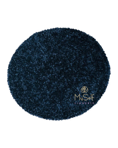 Lurex Lined Navy Chenille