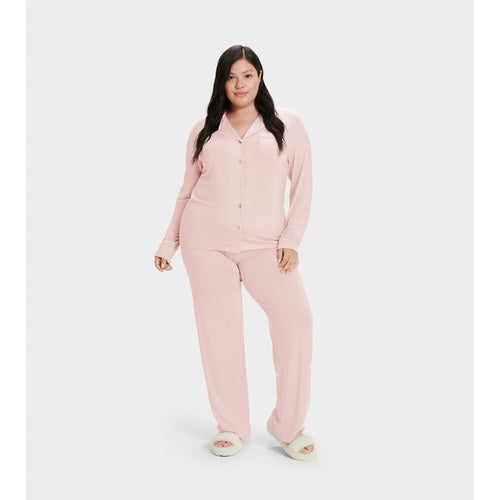 UGG Pink Cloud Lenon Button Down PJ's Set