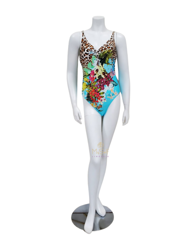 Furstenberg Floral Paradise Turquoise Underwire Swimsuit