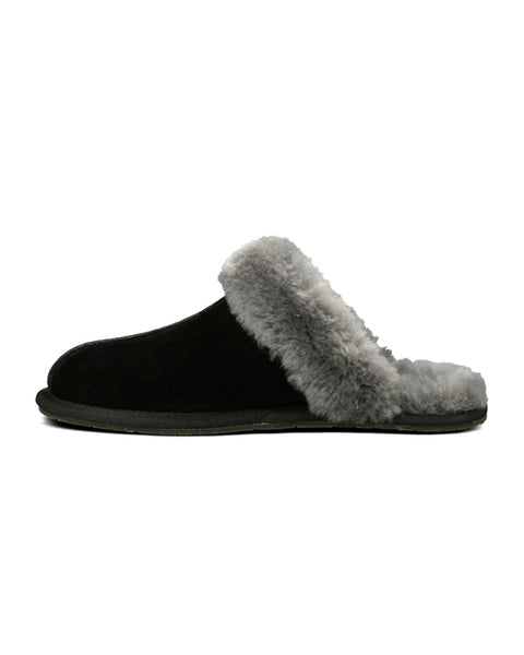 UGG 5661 Scuffette II Suede Slipper with Fur Trim myselflingerie.com