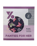 Young Berry 7321-BF-Butterflies Cotton Panties 3 Pk myselflingerie.com