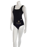NBB 50882 Black Swimsuit with Gold Buckle Accents myselflingerie.com
