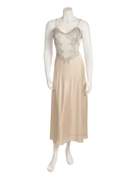 Flora Nikrooz 7533C Champagne Showstopper Gown myselflingerie.com