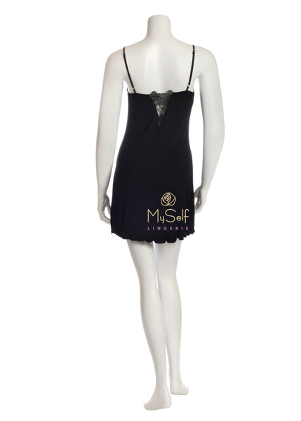 Vanilla Night and Day IC035 Iris Lace Cup Short Chemise myselflingerie.com