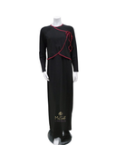 Lunderbeck AC-079 Black with Brick Wrap Modal Nursing Nightgown myselfingerie.com