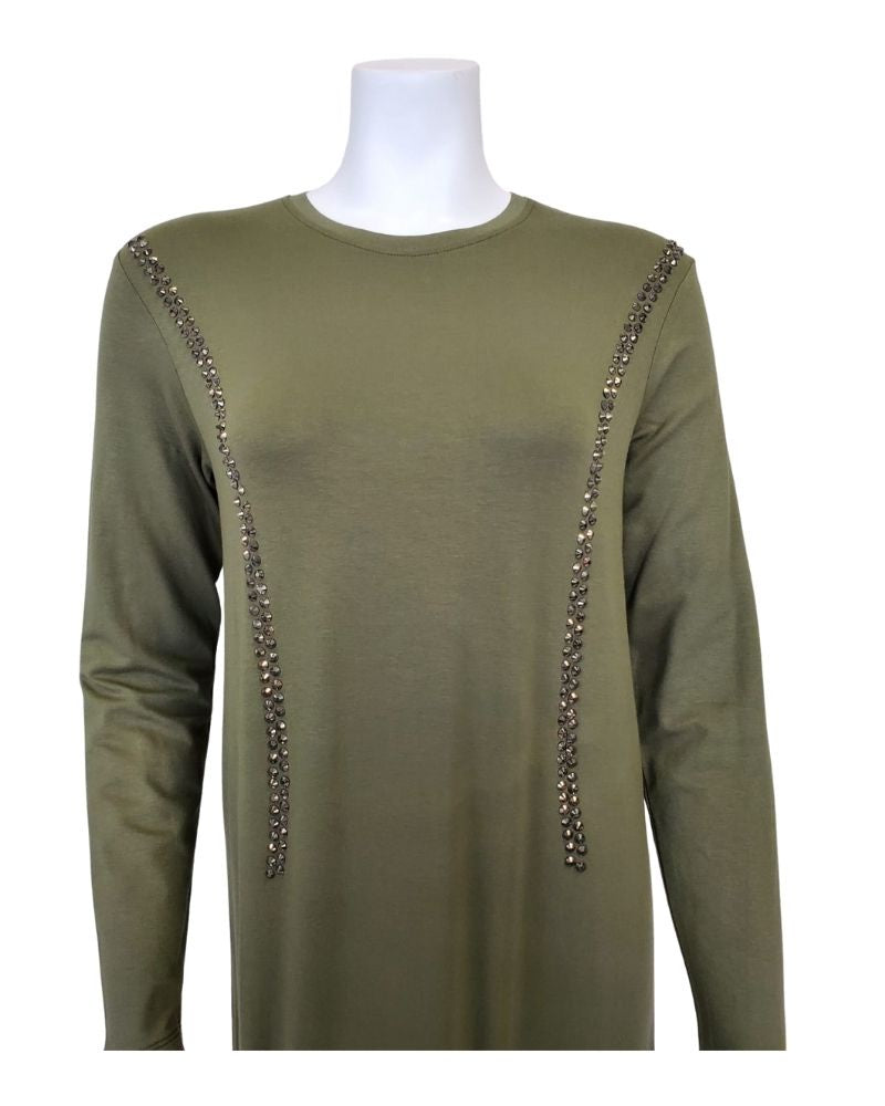 Pierre Balmingo Paris 05-4524B-LL Olive Modal Pull On Modal Nightgown myselflingerie.com