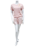 PJ Harlow MAC + MIKEL Short Sleeve Top + Satin Shorts PJ's Set
