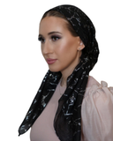 Tie Ur Knot Black Galaxy Shimmer Pre-Tied Bandanna with Light Non Slip Grip MYSELFLINGERIE.COM