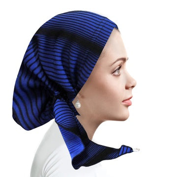 RK4002 Ribboni Dazzling Blue Knit Pre-Tied Bandanna