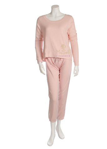 PJ Harlow ROSIE Long Sleeve Scoop Neck Pajama Top myselflingerie.com