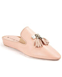 Jacques Levine Blush Camilla Genuine Leather Slippers with Tassels myselflingerie.com