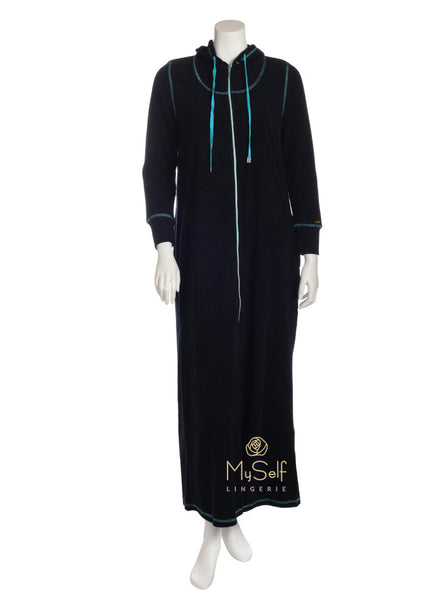 Me Moi CNL04459 Hooded Zip Up Terry Robe myselflingerie.com