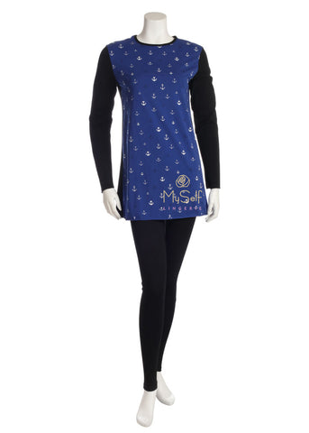 EL821PJ-1 Anchor Print Teen Pajama Set