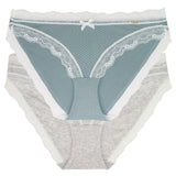 Dorina Teal/Heather Blue Lace Modal 2 Pk Brief