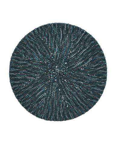 Lizi Headwear Pearl Two Tone Teal / Grey Chenille