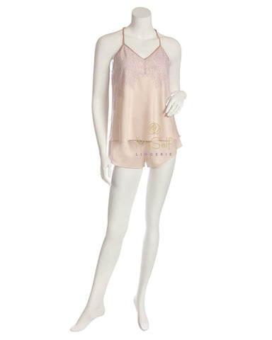 Q80904 Olivia Charmeuse Cami and Shorts Set