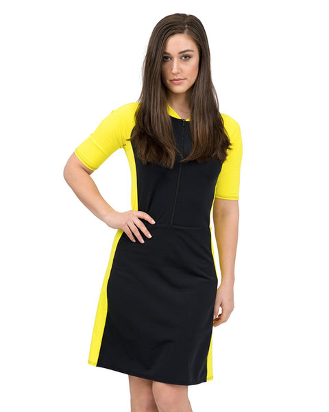 Undercover Waterwear S19-WSS-YB Yellow/Black Wet Suit with Skirt myselflingerie.com